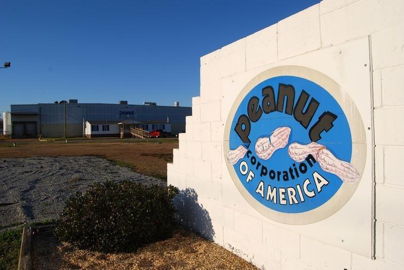The building of the now-closed Peanut Corporation of America plant is pictured in Blakely