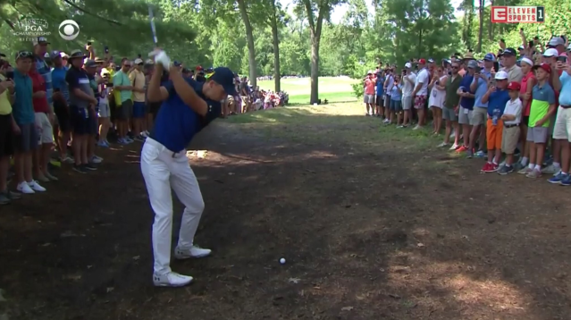 Spieth from the timber. (via screenshot)