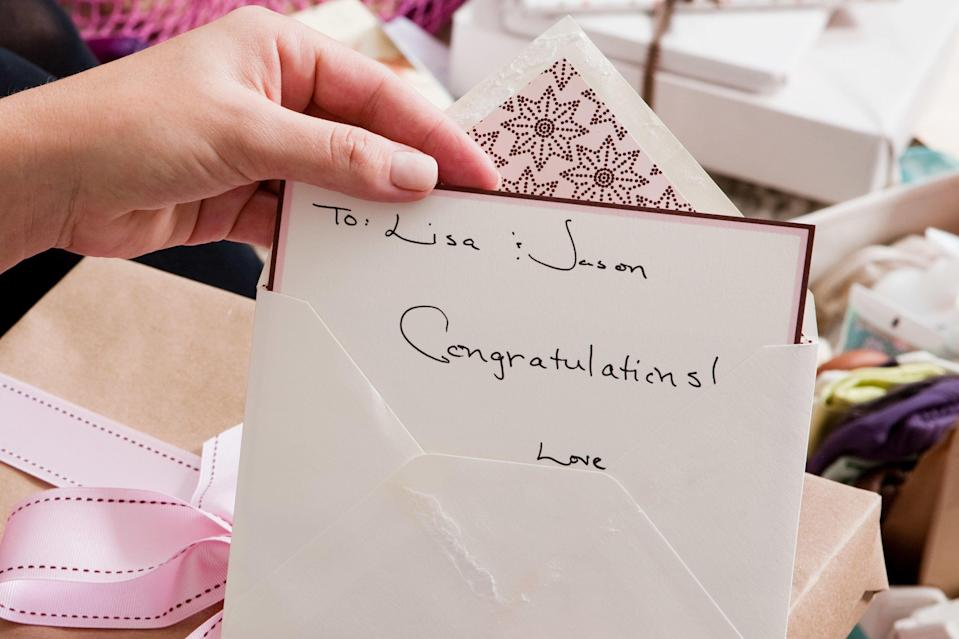 33 things to write in a wedding card if you're not sure