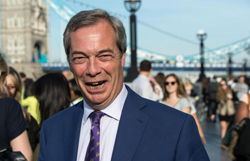 Nigel Farage: 'Another p**** in a suit', according to Danny Dyer (Chris Ratcliffe/Getty Images)