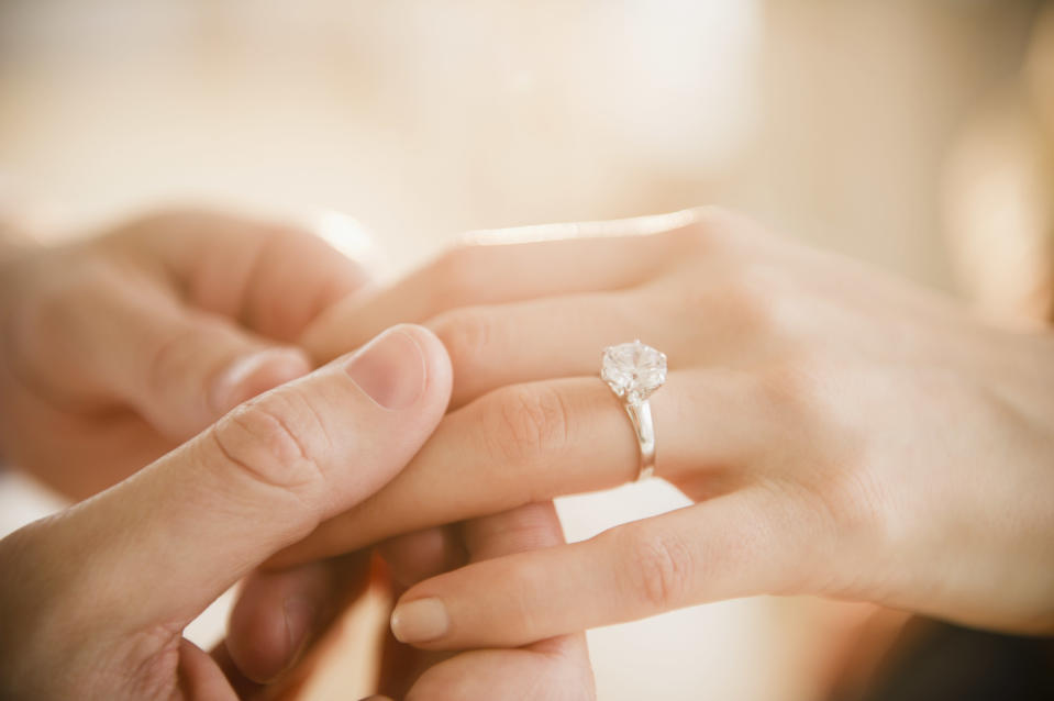 Promise rings are on the rise, according to one online jeweller [Photo: Getty]