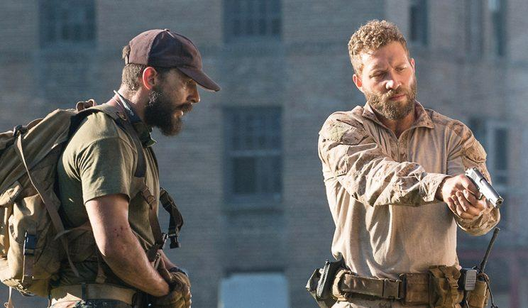 Shia LaBeouf and Jai Courtney in Man Down - Credit: Signature Entertainment