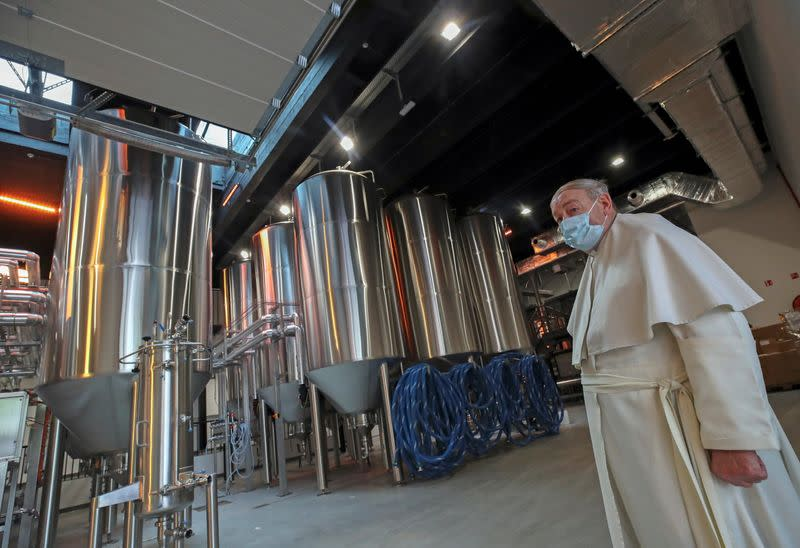 Belgian Abbey of Grimbergen returns to brewing after a break of more than 200 years with a new microbrewery in Grimbergen