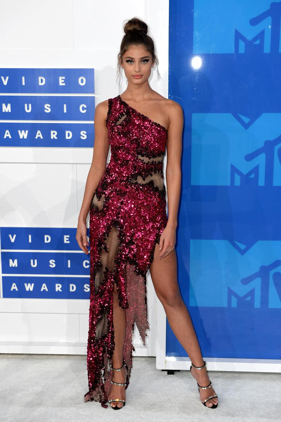 <p>Taylor's grown in fame in the past year, modelling for Topshop and Lancome. <i>[Photo: PA]</i></p>