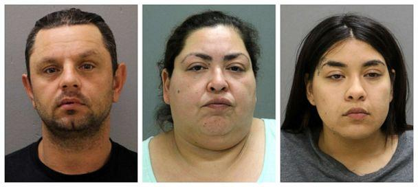 PHOTO: From left, Pioter Bobak, 40; Clarisa Figueroa, 46; and Desiree Figueroa, 24. (Chicago Police Department via AP)
