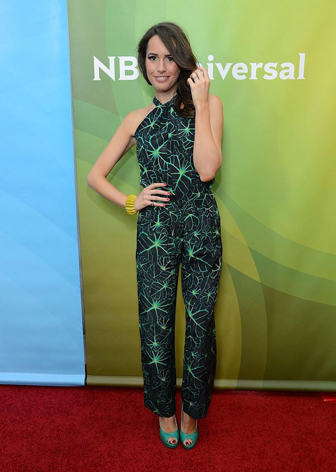"""Louise Roe attends NBCUniversal's """"2013 Winter TCA Tour"""" Day 1 at Langham Hotel on January 6, 2013 in Pasadena, California."""