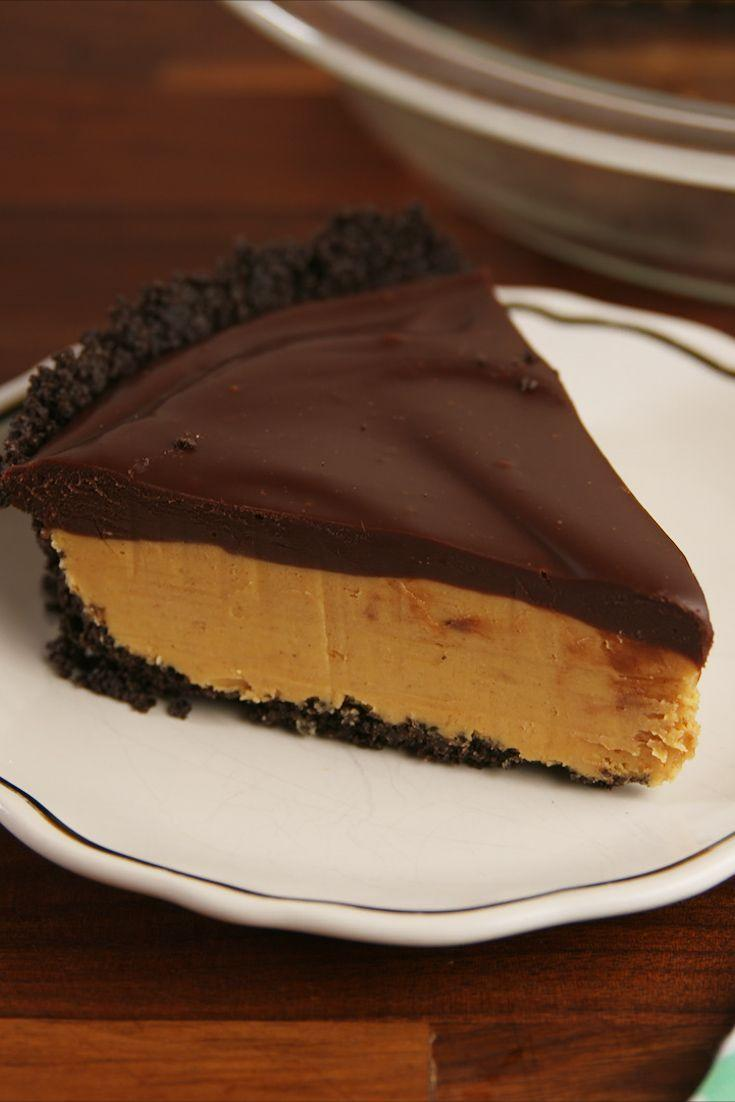 """<p>Our love for peanut butter and chocolate knows no end.</p><p>Get the recipe from <a href=""""https://www.delish.com/cooking/recipe-ideas/recipes/a56618/buckeye-pie-recipe/"""" rel=""""nofollow noopener"""" target=""""_blank"""" data-ylk=""""slk:Delish"""" class=""""link rapid-noclick-resp"""">Delish</a>.</p><p><strong><a class=""""link rapid-noclick-resp"""" href=""""https://www.amazon.com/Pie-Plate-2-Pc-Set-Glass/dp/B001D6YXI0/?tag=syn-yahoo-20&ascsubtag=%5Bartid%7C1782.g.2574%5Bsrc%7Cyahoo-us"""" rel=""""nofollow noopener"""" target=""""_blank"""" data-ylk=""""slk:BUY NOW"""">BUY NOW</a><em> 9"""" Pie Plate, $11, </em><em><span class=""""redactor-unlink"""">amazon.com</span></em></strong></p>"""