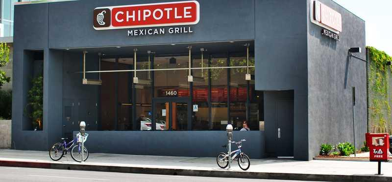 Chipotle Mexican Grill storefront.