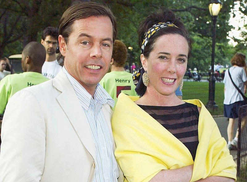 Andy Spade remembers Kate Spade on the first anniversary of her death. (Photo: Scott Gries/Getty Images)