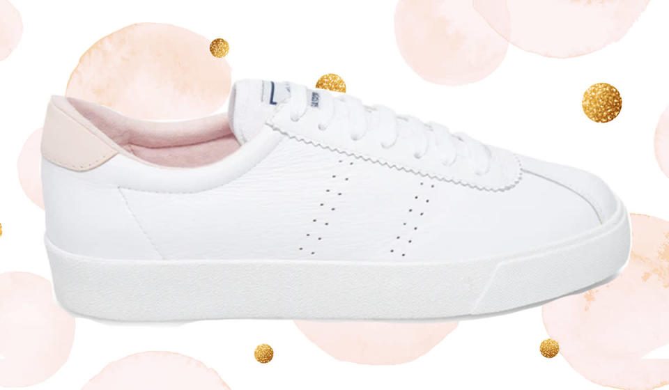 Available in baby blue, pastel pink and all-white. (Photo: Superga)