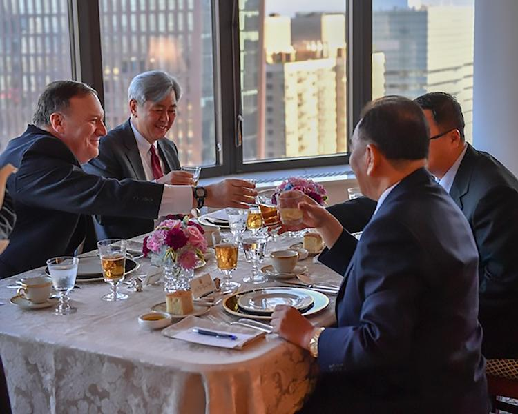 North Korean envoy Kim Yong Chol held talks with US Secretary of State Mike Pompeo in New York before his meeting with Trump (AFP Photo/HO)
