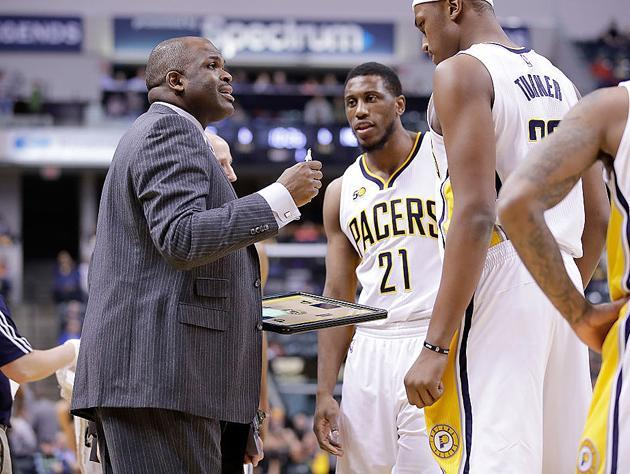 Nate McMillan and the crew. (Getty Images)
