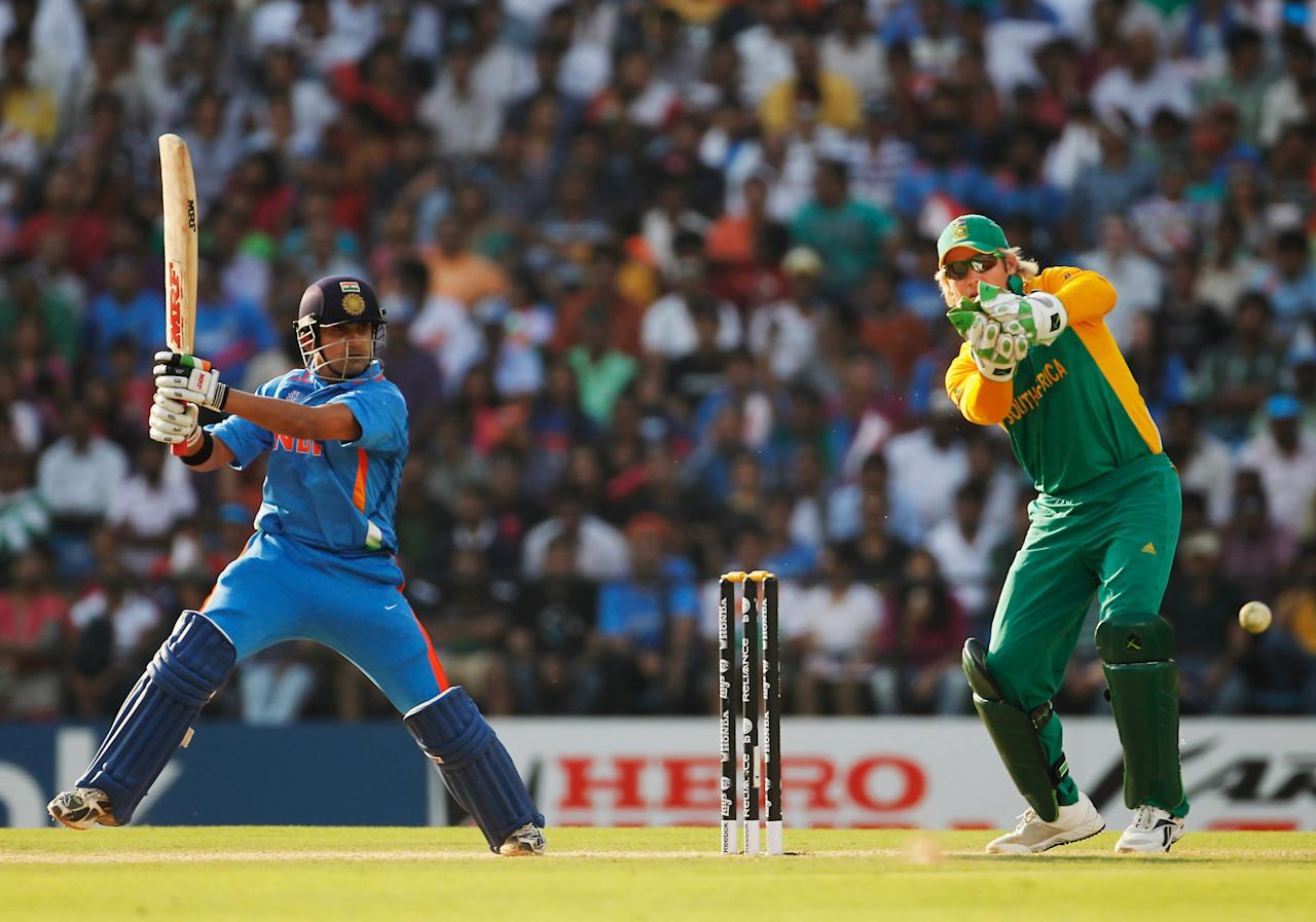 NAGPUR, INDIA - MARCH 12:  Gautam Gambhir of India bats during the Group B ICC World Cup Cricket match between India and South Africa at Vidarbha Cricket Association Ground on March 12, 2011 in Nagpur, India.  (Photo by Daniel Berehulak/Getty Images)