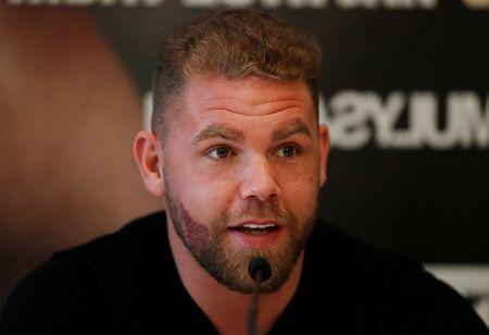 Boxing - Billy Joe Saunders & Martin Murray Press Conference - Savoy Hotel, London, Britain - January 25, 2018. Billy Joe Saunders during the press conference. Action Images via Reuters/Matthew Childs/Files