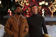 """<p>Michael Urie stars in this holiday rom-com, which centers on a perpetually single man who convinced his friend to pretend to be his boyfriend for the holidays. The problem: His meddling mom already has plans to set him up on a blind date with someone else. </p> <p><strong>When it's available: </strong><a href=""""http://www.netflix.com/title/81148358"""" class=""""link rapid-noclick-resp"""" rel=""""nofollow noopener"""" target=""""_blank"""" data-ylk=""""slk:Dec. 2"""">Dec. 2</a></p>"""