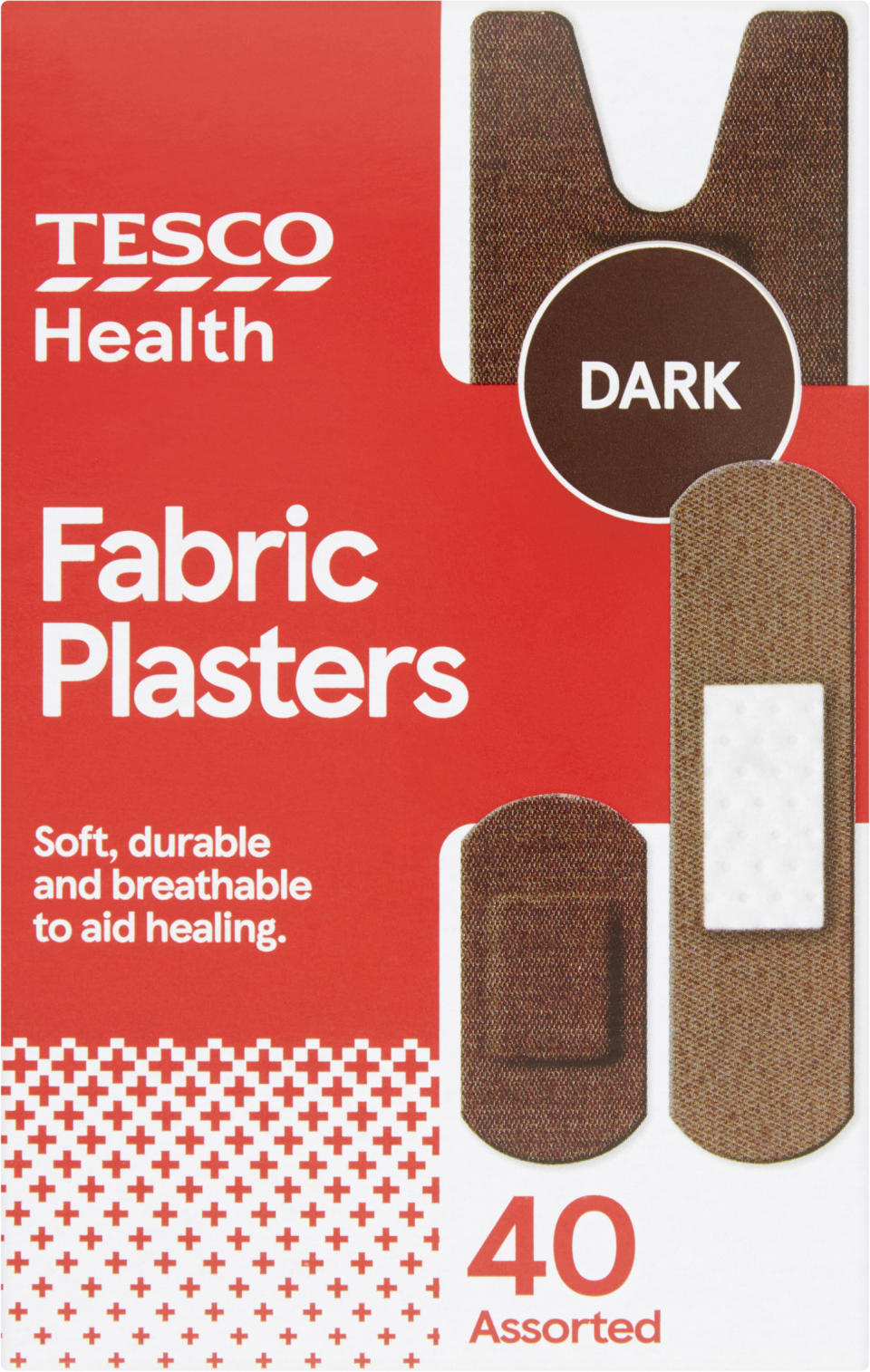 The plasters come in three different skin tones (Tesco/PA)