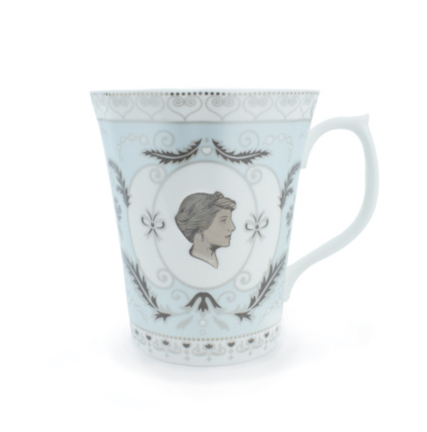 """<p>Invest in a bone china mug made in commemoration of the Princess of Wales.<br><em><a rel=""""nofollow noopener"""" href=""""http://www.historicroyalpalaces.com/giftcollections/history/princessdiana-herfashionstory-kensington/princessdiana-finebonechina-cameo-commemorative-mug-blue.html"""" target=""""_blank"""" data-ylk=""""slk:Royal Historic Palaces"""" class=""""link rapid-noclick-resp"""">Royal Historic Palaces</a>, £24.99</em> </p>"""