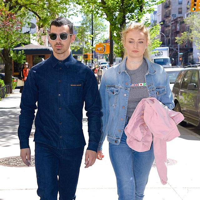 """<p><a href=""""https://www.yahoo.com/entertainment/yes-joe-jonas-sophie-turner-engaged-182025574.html"""" data-ylk=""""slk:She said yes;outcm:mb_qualified_link;_E:mb_qualified_link"""" class=""""link rapid-noclick-resp"""">She said yes</a>! The <em>Game of Thrones</em> actress and the DNCE singer will say """"I do"""" in the near future. Jonas proposed to Turner in October after about a year of dating. (Photo: Robert Kamau/GC Images) </p>"""