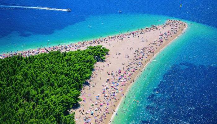 "Zlatni Rat (""Golden Cape"") Beach is one of Europe's most popular beach destinations. Located on the southern coast of the island of Brač, the beach extends along a heavenly 580m promontory stretching out into the sea. This pebble beach has exceptional wind patterns and tides, as well as a beautiful shape."