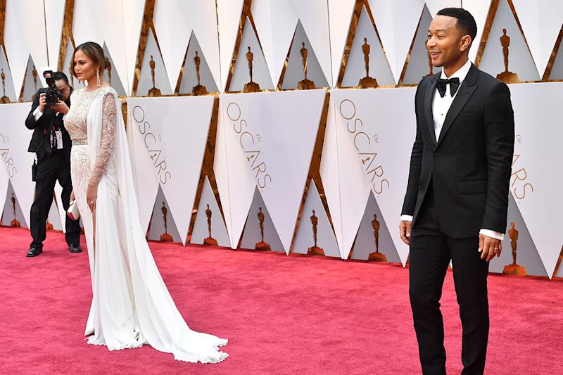 Chrissy Teigen and husband John Legend at the 89th Annual Academy Awards at Hollywood & Highland Center on February 26, 2017.