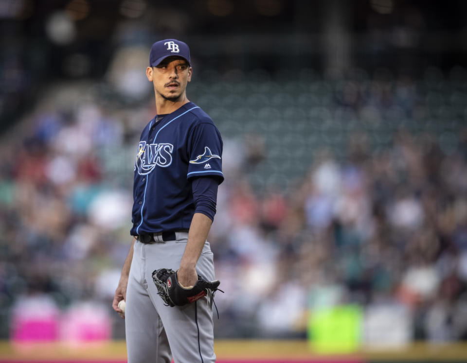 Charlie Morton regrets not doing more to stop the illegal sign-stealing when he was on the Astros in 2017. (Photo by Stephen Brashear/Getty Images)