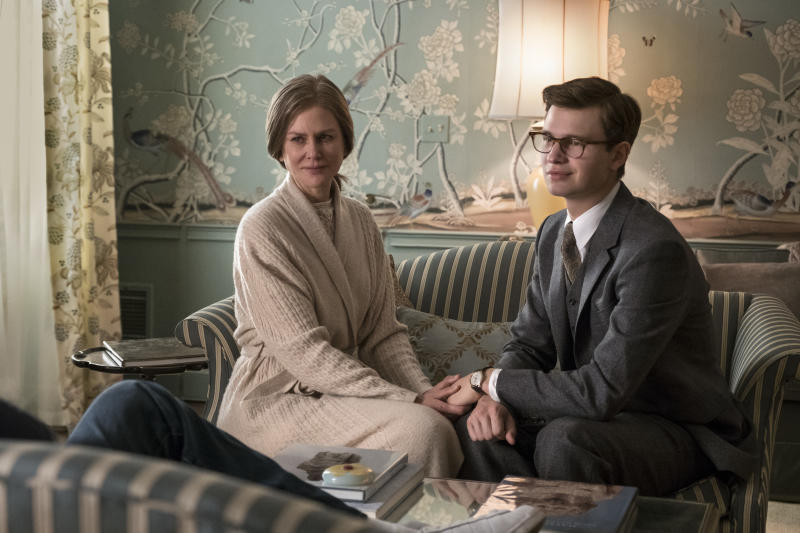 (L-r) NICOLE KIDMAN as Mrs. Barbour and ANSEL ELGORT as Theo Decker in Warner Bros. Pictures and Amazon Studios drama, THE GOLDFINCH, a Warner Bros. Pictures release.
