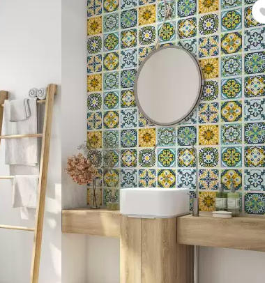Thinking of redoing your bathroom? Why not add colour with tiles?
