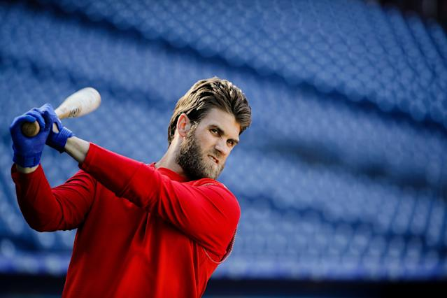 Bryce Harper's peers believe that the Phillies slugger is the game's most overrated player — by a wide margin. (AP)