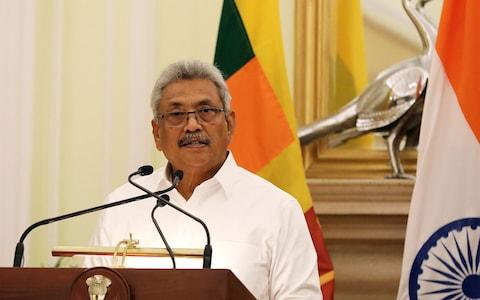 Gotabaya Rajapaksa is also reportedly about to announce legislation offering immunity to those who carried out human rights abuses - Credit: Harish Tyagi/REX