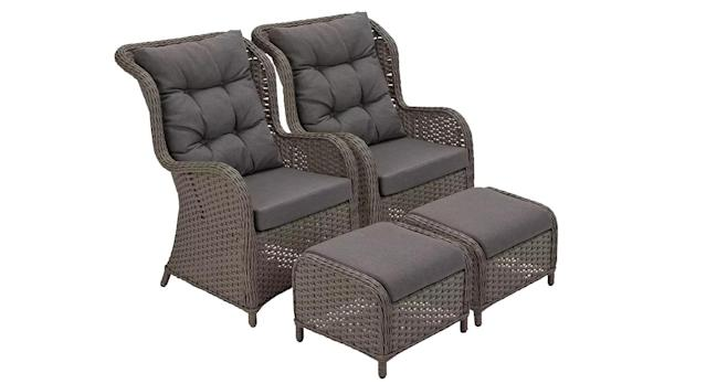 Dave 2 Seater Lounger Set with Side Table