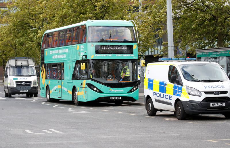 Manchester police say suspicious item on bus declared safe