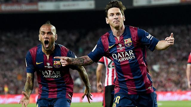 They may be South American rivals but Dani Alves has had some kind words for former Barcelona team-mate Lionel Messi.