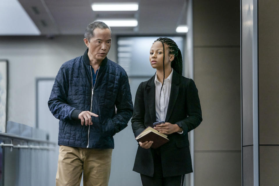 Eric Tao (Ken Leung) and protege Harper Stern (Myha'la Herrold) in Industry. (PHOTO: HBO)