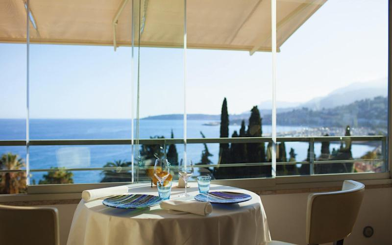 Mirazur in Menton, French Riviera, has been named the world's best restaurant - www.alamy.com