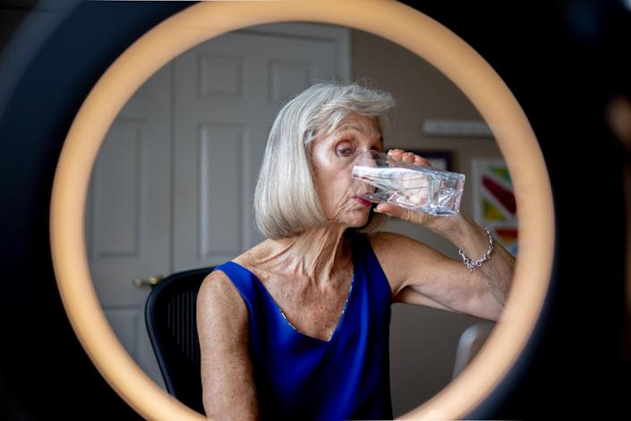 Image: Margo Woodacre she hopes her drinking water bill remains untouched. (Hannah Beier / for NBC News)