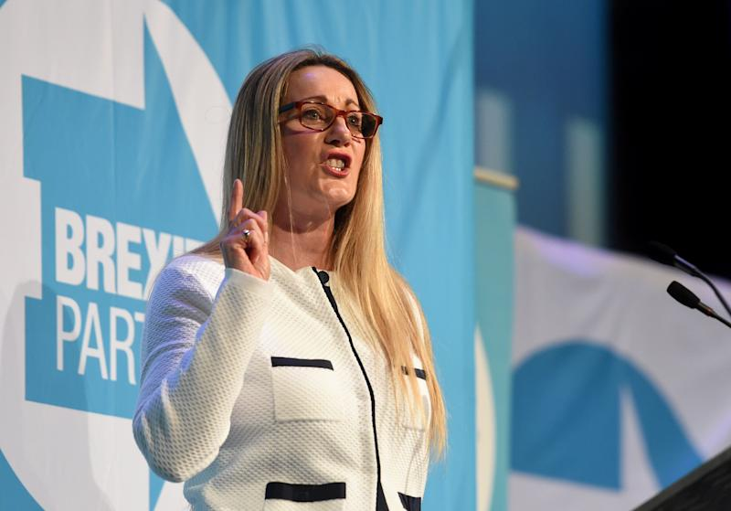 Brexit Party candidate June Mummery during a rally in Peterborough King's Gate Conference Centre as part of their European Parliament election campaign. (Photo: PA Archive/PA Images)