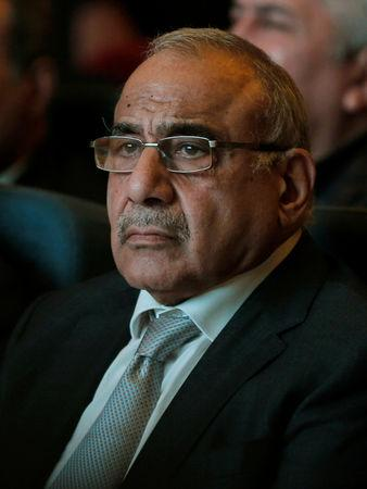Iraq's Prime Minister Adel Abdul Mahdi attends the opening of Baghdad International Fair in Baghdad