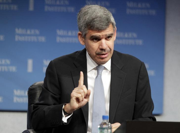 Mohamed A. El-Erian, CEO and co-CIO of PIMCO, speaks at the Milken Institute Global Conference in Beverly Hills, California