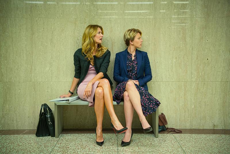 Laura Dern and Scarlett Johansson in a still from <i>Marriage Story</i>. (Netflix)