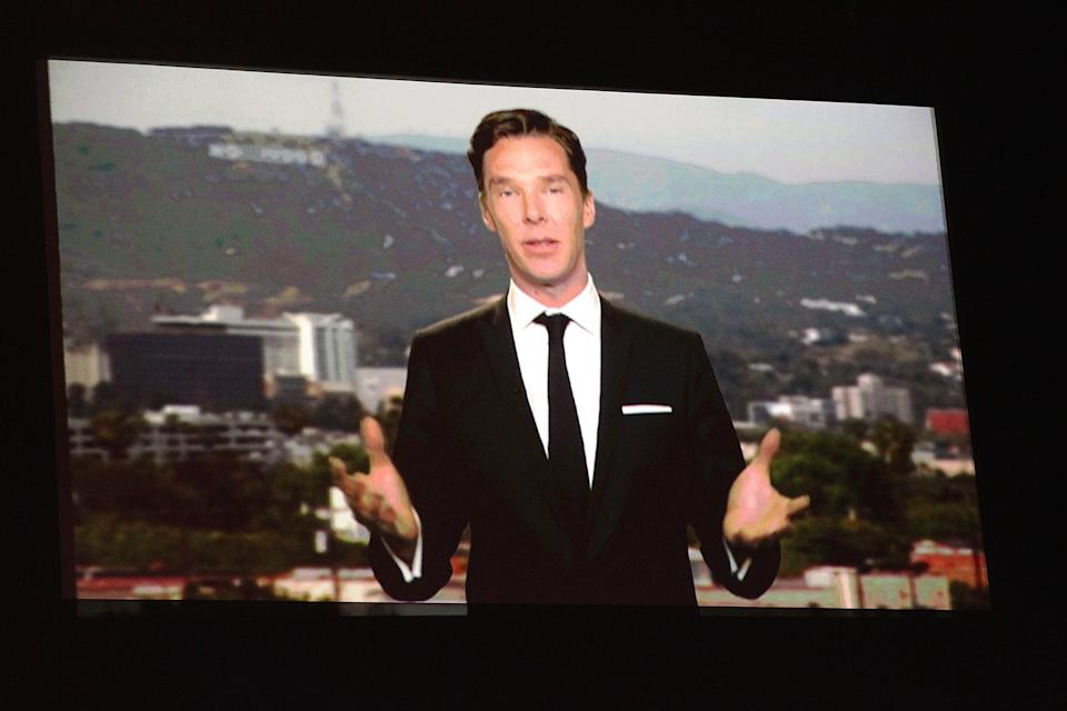 Apparently TV detective dramas were such a big deal in 2014 that they warranted their own category, with Sherlock going up against Idris Elba, Suranne Jones, David Tennant, Olivia Colman and Bradley Walsh.<br /><br />Who'd have thought it... Benedict was unable to attend the ceremony (missing the chance to rub shoulders with Keith Lemon, Jeremy Kyle and the cast of 'Dancing On Ice'), but did send a video acceptance speech.