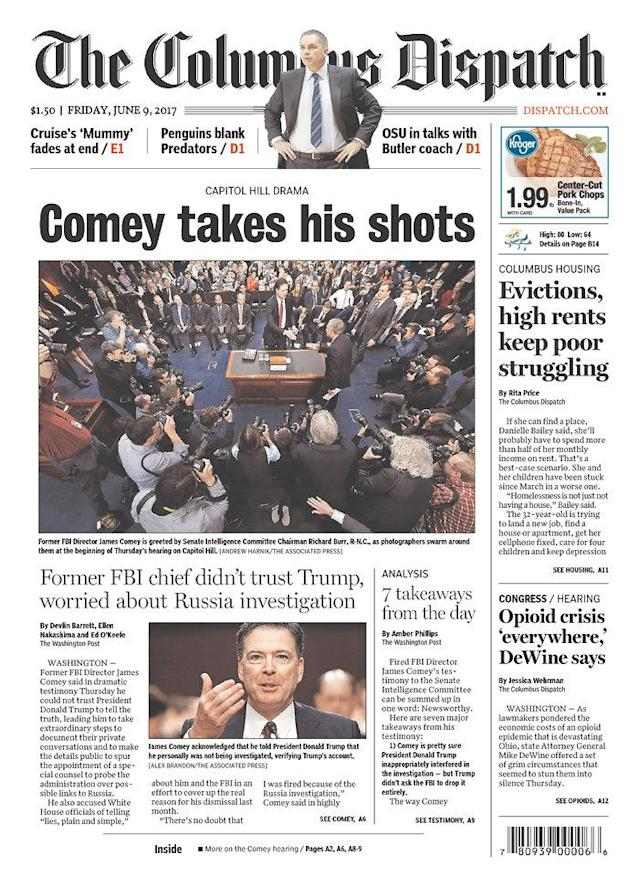 "<p>""The Columbus Dispatch,"" published in Columbus, Ohio. (Newseum) </p>"