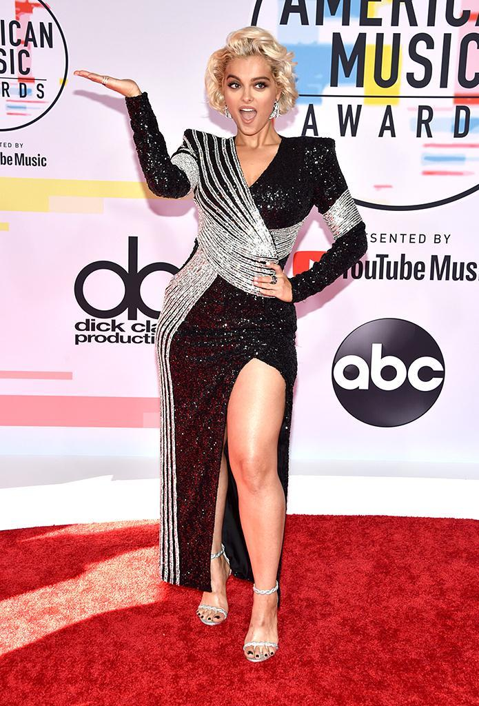 <p>Bebe Rexha attends the 2018 American Music Awards at Microsoft Theater on Oct. 9, 2018, in Los Angeles. (Photo: John Shearer/Getty Images For dcp) </p>