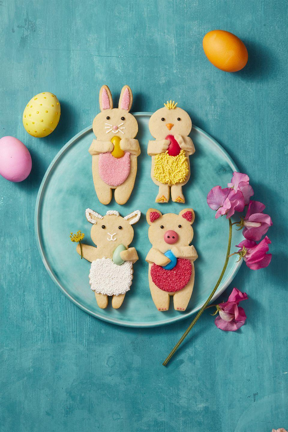 "<p>Can't decide between bunny, chick, sheep, or pig-shaped treats? Make 'em all for a dessert table full of spring's finest!</p><p><em><a href=""https://www.goodhousekeeping.com/food-recipes/a41691/vanilla-sugar-dough-recipe/"" rel=""nofollow noopener"" target=""_blank"" data-ylk=""slk:Get the recipe for Easter Vanilla Sugar Cookies »"" class=""link rapid-noclick-resp"">Get the recipe for Easter Vanilla Sugar Cookies »</a></em></p><p><strong>RELATED: </strong><a href=""https://www.goodhousekeeping.com/food-recipes/dessert/g30468803/easy-spring-desserts/"" rel=""nofollow noopener"" target=""_blank"" data-ylk=""slk:55 Spring Desserts Perfect to Celebrate The Season"" class=""link rapid-noclick-resp"">55 Spring Desserts Perfect to Celebrate The Season</a></p>"