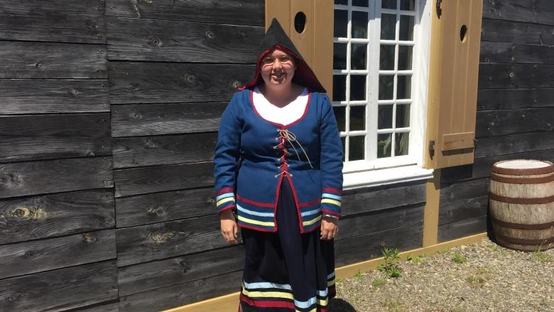 Replica of Mi'kmaq dress first of its type worn at Fortress of Louisbourg since 1700s