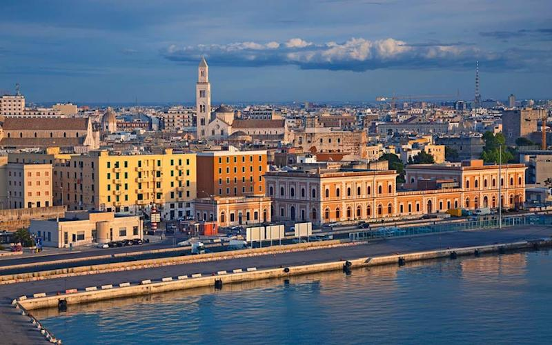 MSC Cruises will be sailing from Bari (pictured), Trieste and Genoa - RUDY BALASKO