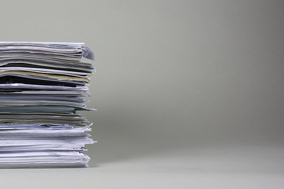 """<p>The worst thing about a pile of paperwork is knowing just how all over the place its contents can be. 'Paperwork is overwhelming and tedious. Old greeting cards and correspondence is often just like broken items, it represents old memories that people are afraid to let go,' says Collette Shine, professional organiser and founder of <a rel=""""nofollow noopener"""" href=""""https://www.google.com/url?hl=en&q=https://www.google.com/url?hl%3Den%26q%3Dhttp://www.organizeandshine.com/%26source%3Dgmail%26ust%3D1476395398540000%26usg%3DAFQjCNH7In_-Sn64skpsx61bs1tkUyDixw&source=gmail&ust=1476462523924000&usg=AFQjCNFmEs-wEq1n4CRm6B-6BwBvXEgGcQ"""" target=""""_blank"""" data-ylk=""""slk:Organise and Shine"""" class=""""link rapid-noclick-resp"""">Organise and Shine</a><span>.</span> 'Big piles of paper clutter can bring on anxiety, feelings of being overwhelmed, shame and definitely stress. It is also hard to attack a large backlog of paper clutter, it is often time consuming.'</p><p>Breaking the pile down in easier-to-tackle chunks can help deal with the overwhelming feelings. Still having trouble? Have a friend help you sort through the pile. </p><p><strong>More: </strong><span><a rel=""""nofollow noopener"""" href=""""http://www.housebeautiful.co.uk/lifestyle/storage/news/a625/staying-organised-sorting-out-your-paperwork/"""" target=""""_blank"""" data-ylk=""""slk:Staying organised: Sorting out your paperwork"""" class=""""link rapid-noclick-resp""""><strong><em>Staying organised: Sorting out your paperwork</em></strong></a></span></p>"""