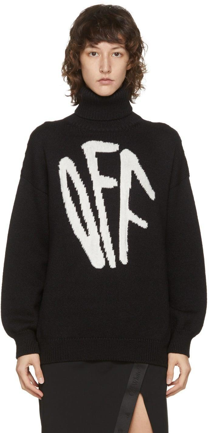 <p>This <span>Off-White Graffiti Turtleneck</span> ($910) will add a cool edge to any silhouette.</p>