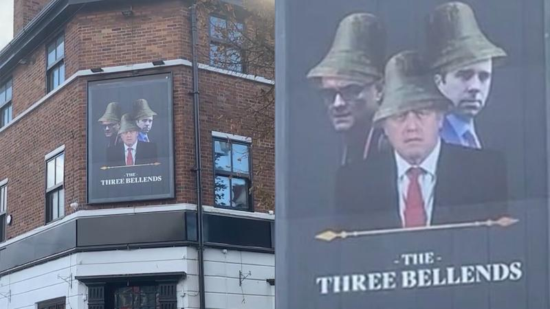 Merseyside pub pokes fun at Johnson, Cummings and Hancock with cheeky new sign