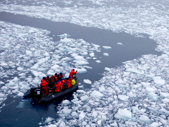 Scientists are studying the hot rocks to see how they'll affect future ice shifts.