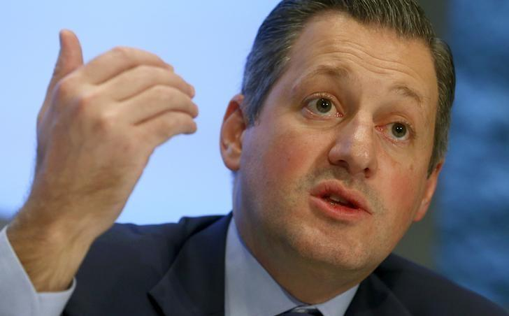 CEO Collardi of Swiss private bank Julius Baer addresses news conference in Zurich